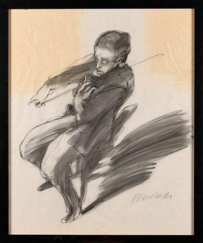 CLAUDE WEISBUCH (1927-2014) Le violoniste...