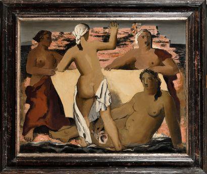 JEAN SOUVERBIE ( 1891-1981) Les baigneuses...
