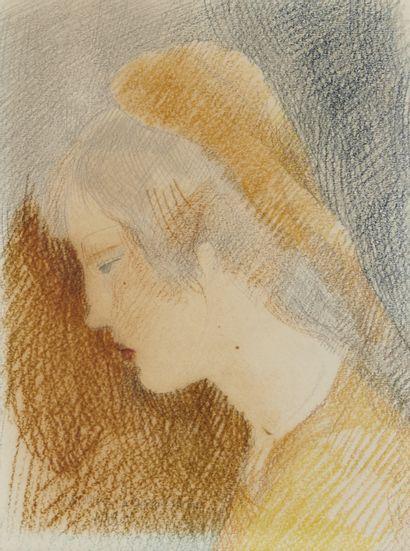 MARIE LAURENCIN (1883-1956) Jeune fille au...