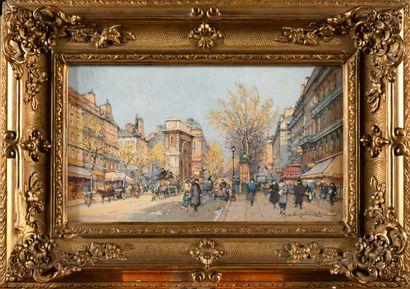 EUGENE GALIEN-LALOUE (1854-1941) Porte Saint-Martin...
