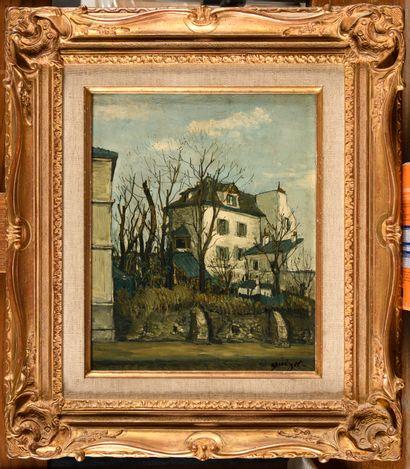ALPHONSE QUIZET (1885-1955) Vieille masure...