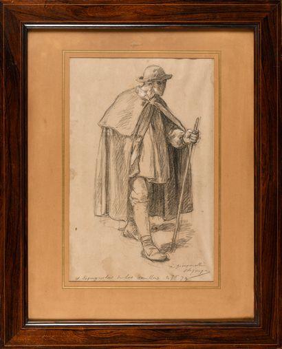 Charles JACQUE (1813-1894) Paysan espagnol...