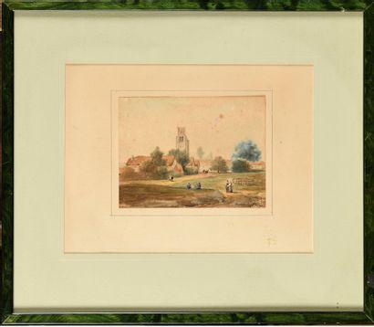 Eugène CICÉRI (1813-1890) Vue de village...