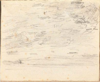 Eugène BOUDIN (1824-1898) Etude de ciel et...