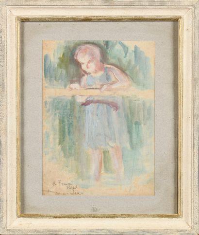 Maximilien LUCE (1858-1941) Enfant à la barre...