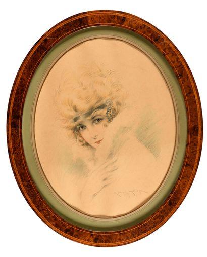 Maurice MILLIERE (1871-1946) Portrait de...