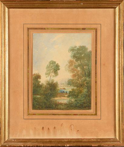 Jean-Louis DEMARNE (1752/54-1829) Paysage...