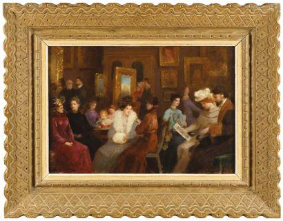 Édouard Alexandre SAIN (1830-1910) Dans...