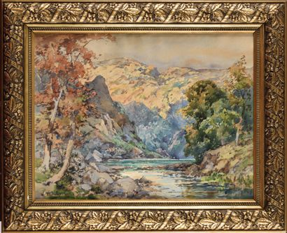 William Georges THORNLEY (1857-1935) Paysage...