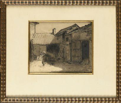 Louis Marie DESIRÉ-LUCAS (1869-1949) Cour...