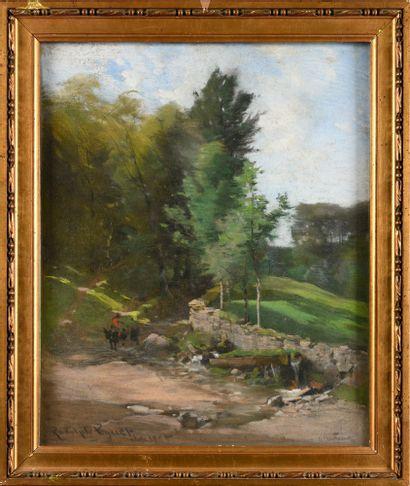 Rodolphe PIGUET (1840-1915) Promeneur en...