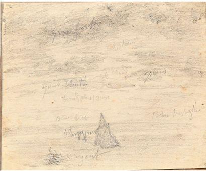 Eugène BOUDIN (1824-1898) Ciel et voile sur...