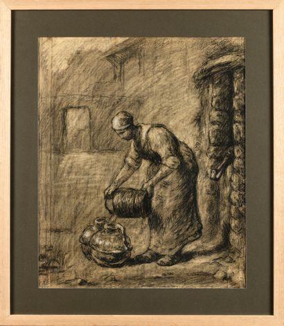 Jean-Charles MILLET (1892-1944) Femme au...