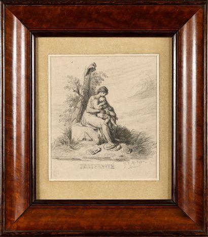 Jean-François MILLET (1814-1875) Fraternité...