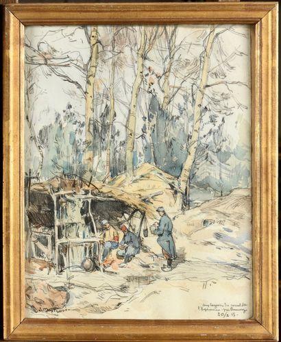Louis Agricol MONTAGNÉ (1879-1960) Campement...
