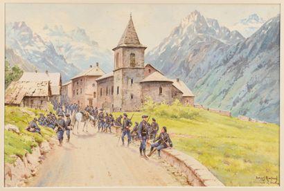 Bernard RAMBAUD (XIX-XX) Chasseurs alpins...