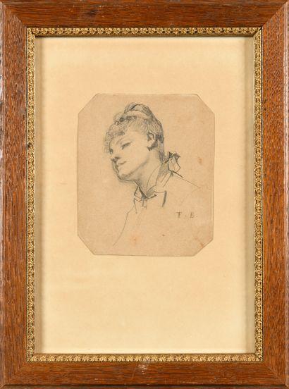 ECOLE FRANCAISE du XIXème SIECLE Portrait...