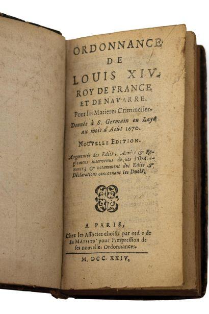 TROIS LIVRES :  -ORDONNANCE DE LOUIS XIV...