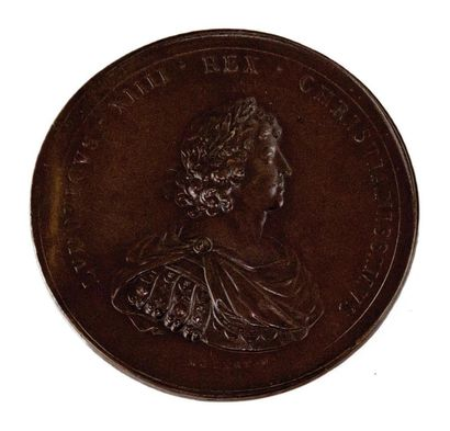 LE ROI LOUIS XIII.  a-Médaille en bronze...