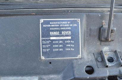 1979 LAND ROVER RANGE ROVER SUFFIX F Serial number 35858862F  Nice original condition...