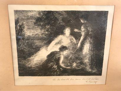 Henri Fantin LATOUR  Le Maléfice  Lithographie...