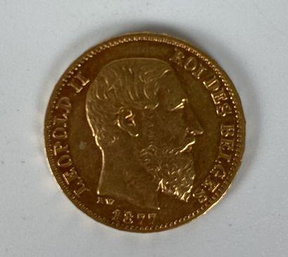 BELGIQUE 1 pièce 20 francs or Leopold II...