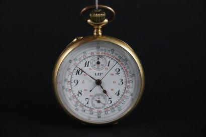 LIP> MONTRE DE GOUSSET VERS 1900. Chronographe...