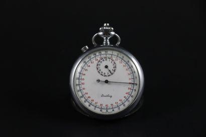 BREITLING Chronomètre de poche en chrome...