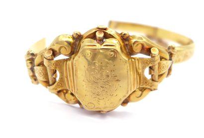 BRACELET XIXème SIECLE en or jaune 18K orné...