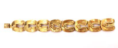 BRACELET en or jaune 18K composé d'une succession...