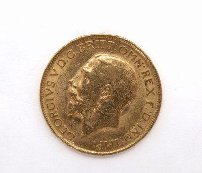 PIECE en or jaune 900 millièmes présentant...