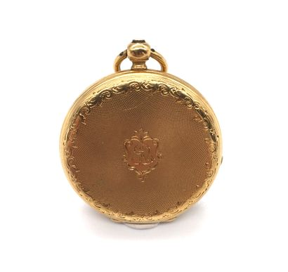 COLLAR WATCH with white dial, Roman numerals on the hour-markers. The obverse, finely...