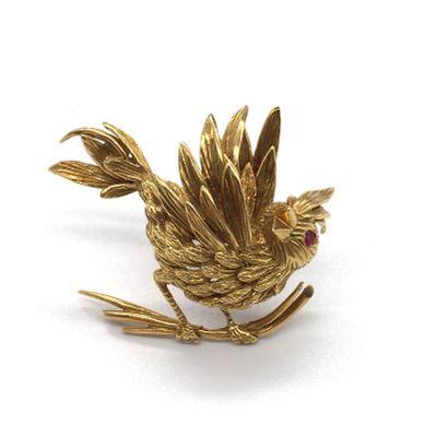 BOUCHERON BROCHE représentant un oiseau sur...