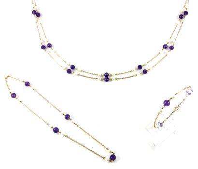 ENSEMBLE comprenant un collier, un collier...