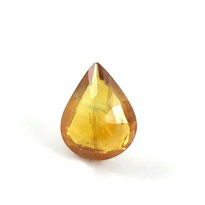 SAPHIR SUR PAPIER de 2 carats en forme de...