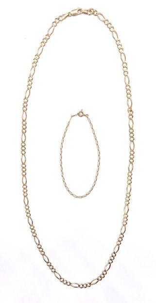 ENSEMBLE DE BIJOUX comprenant un collier...