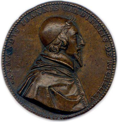 MEDAILLE DE CARDINAL DE RICHELIEU (1629-1642)...