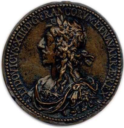 MEDAILLE EN BRONZE DE LOUIS XIII DU GRAVEUR...