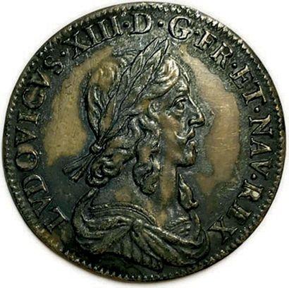LOUIS XIII 1610-1643 LVDOVICVS•XIII•D•G•FR•ET•NAV•REX....