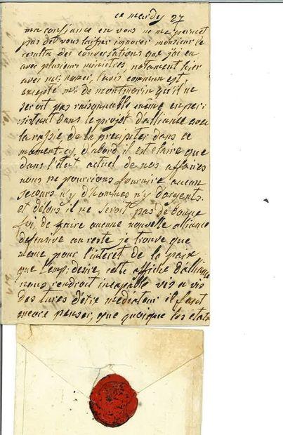 MARIE-ANTOINETTE. Copie manuscrite en imitation...