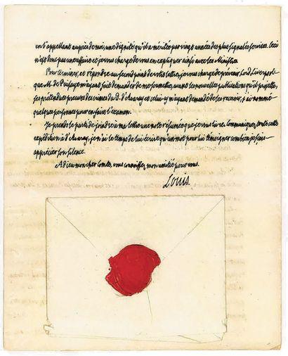 LOUIS XVIII. Lettre autographe signée [au...