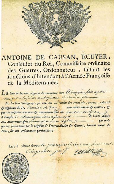 EXPEDITION DE MINORQUE. CAUSAN (Antoine de)....