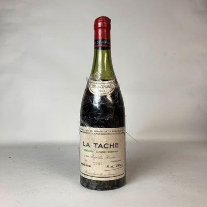 1 bouteille LA TACHE 1961 Grand Cru Domaine...