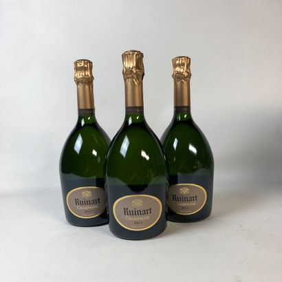 3 bouteilles CHAMPAGNE RUINART Brut