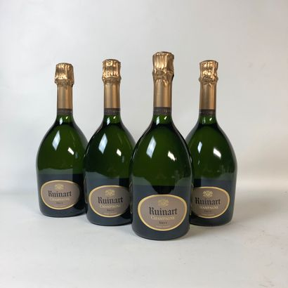 4 bouteilles CHAMPAGNE RUINART Brut