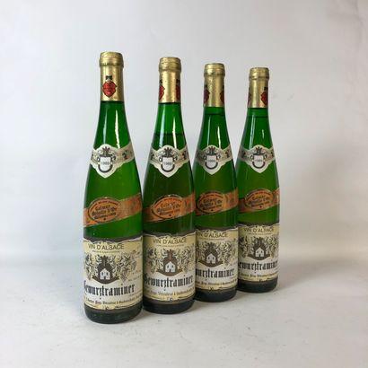 4 bouteilles GEWURTRAMINER 1989 L. Gantz...