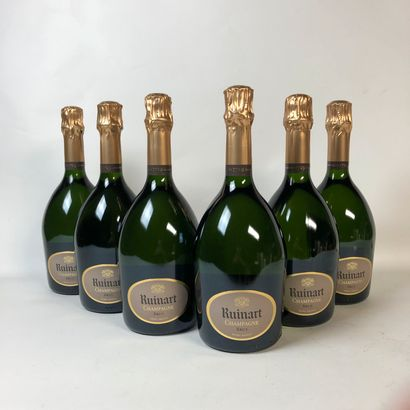 6 bouteilles CHAMPAGNE RUINART Brut