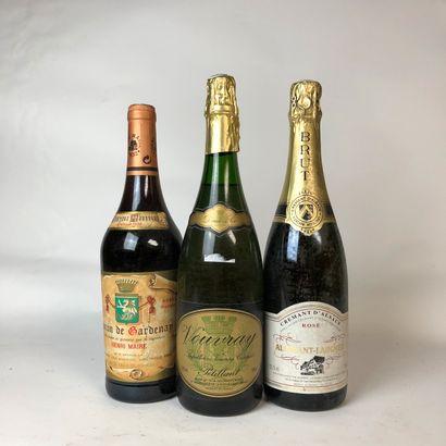 3 bouteilles : 1 VIN DE TABLE Baron de Gardenay...
