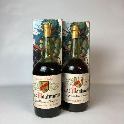 2 bouteilles : 1 CLOS MONTMARTRE 1978 (Centenaire...
