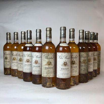 12 bouteilles : 9 JURANÇON 2001 Clos Uroulat,...